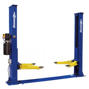 Forward BP9 Symmetric Base Plate Low Ceiling Two Post Car Lift 9,000 lb Capacity