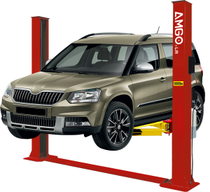 Amgo BP-9X 9,000 lbs. Floor Plate 2 Post Auto Lift