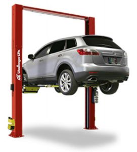 CHALLENGER LIFTS CL10-XP9-DPC 9,000 LBS DRIVE ON STYLE TWO POST LIFTS W/ DUAL PENDANT CONTROL