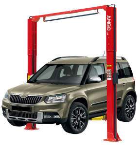 Amgo OH-10H 10,000 lbs. Clear Floor 2 Post Auto Lift (Extended Height)