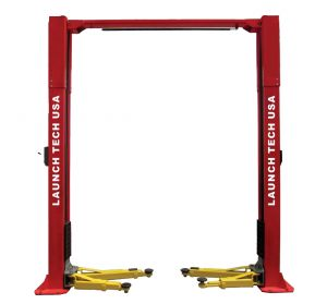 Launch Tech USA 11,000 lb Clear Floor - Asymmetric - ALI Certified 2 Post Lift