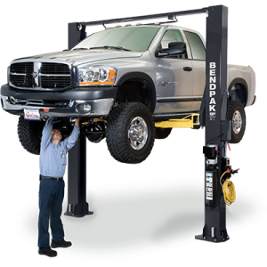 BendPak XPR-10S 2 Post Lift 10,000 lb. Lift Capacity Options