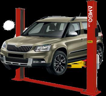 Amgo BP-9X 9,000 lbs. Floor Base-Plate Symmetrical 2 Post Auto Lift