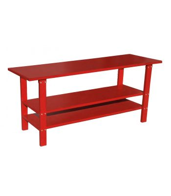 Ranger RWB-2S 5145335 Heavy-Duty Work Bench / 2-Shelf