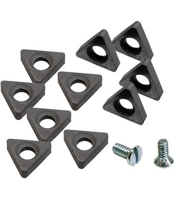 Ranger 5150099 10 Positive Rake Carbide Cutting Tips With 2 Screws