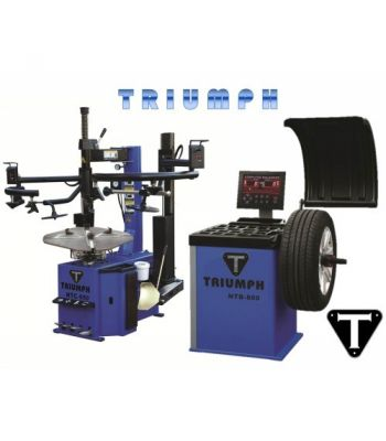 "Triumph NTC950-2/NTB550 Tire Changer and Wheel Balancer Combo 26"" Capacity"