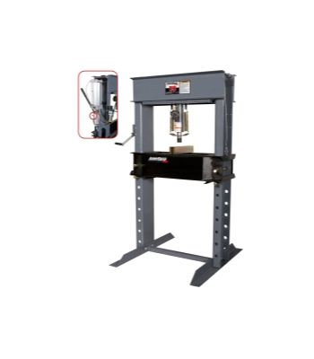 50 Ton Air/Hyd Shop Press with Air Assist