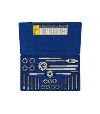 25 PC. METRIC TAP & HEX DIE SET