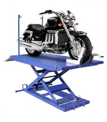 LIBERTY M-1500C-HR-LIB 1,500 lb High Rise Motorcycle Lift Bench w/ Vise, Sides, Balance Bar, Pump