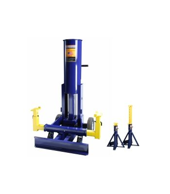 10 air operated end lift w/high lift 10 ton stands