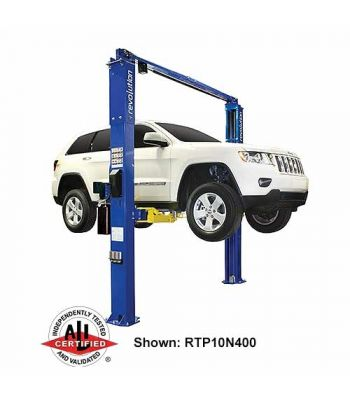 Revolution RTP10 Asymmetric Clearfloor Two Post Car Lift 10,000 lb