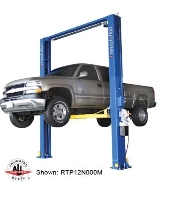 Revolution RTP12 Symmetric Clearfloor Two Post Car Lift 12,000 lb