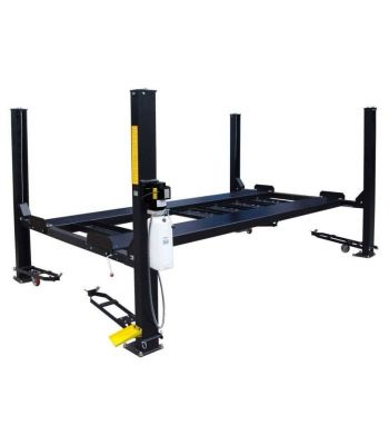 LIBERTY FP9K-DX-XLT-LIB 9,000 lb Deluxe Storage Lift Extended Length / Height - Poly casters, drip trays, jack tray