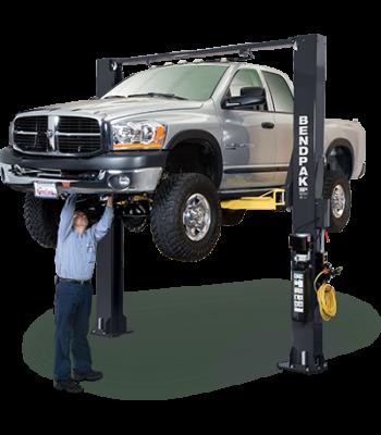 BendPak XPR-10S 2 Post Lift 10,000 lb. Lift Capacity Options